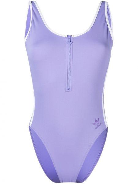 Базовый фиолетовый купальник без рукавов Adidas