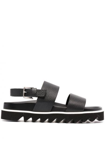 Черные кожаные сандалии с пряжкой P.a.r.o.s.h.