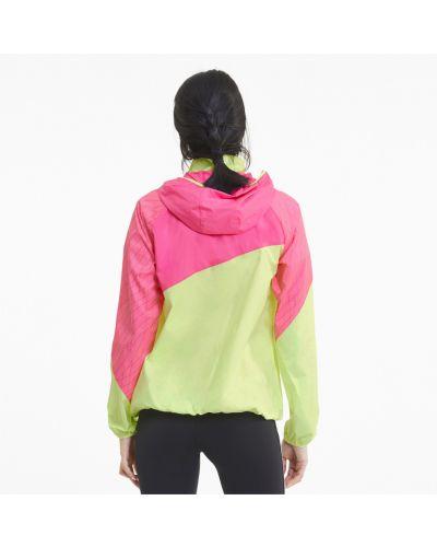 Розовая свободная куртка с капюшоном свободного кроя на молнии Puma