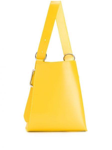 Кожаная желтая кожаная сумка Venczel