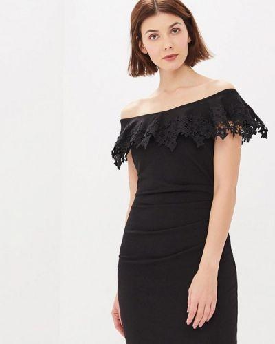 Платье с открытыми плечами осеннее City Goddess
