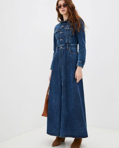 Синее джинсовое платье Please