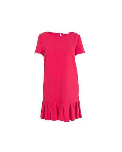 Платье с баской красный Blugirl
