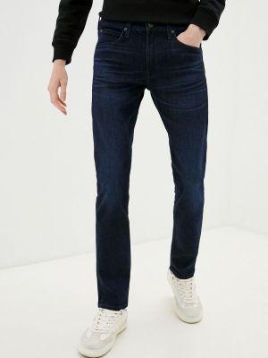Синие зимние зауженные джинсы Lee