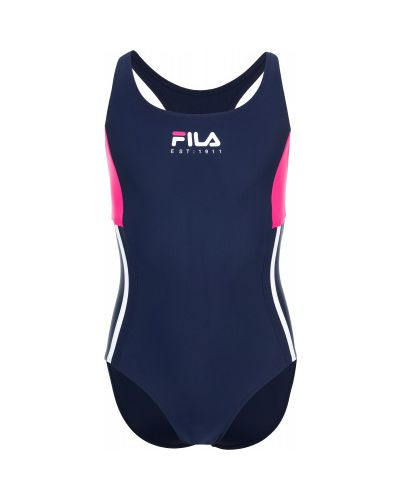 Синий купальник спортивный Fila