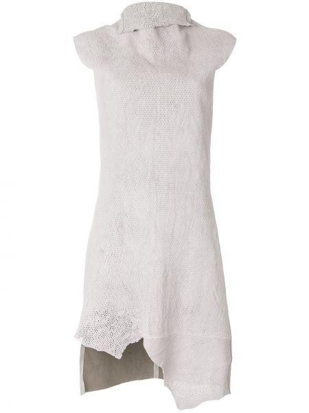 Асимметричное кожаное платье с драпировкой без рукавов Olsthoorn Vanderwilt