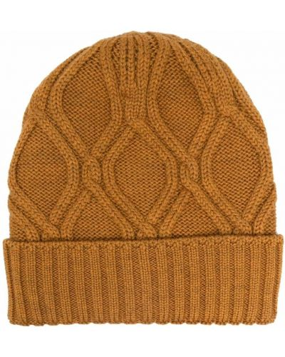Pomarańczowa czapka prążkowana Lardini