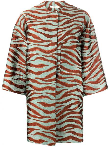 Укороченное пальто с принтом пальто Odeeh