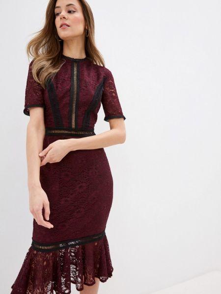 Вечернее платье красный бордовый Chi Chi London