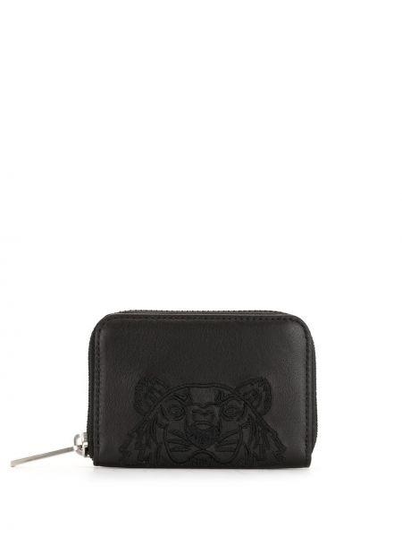 Кожаный кошелек - черный Kenzo