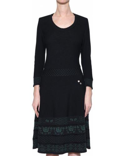 Шерстяное платье - черное Luis Trenker