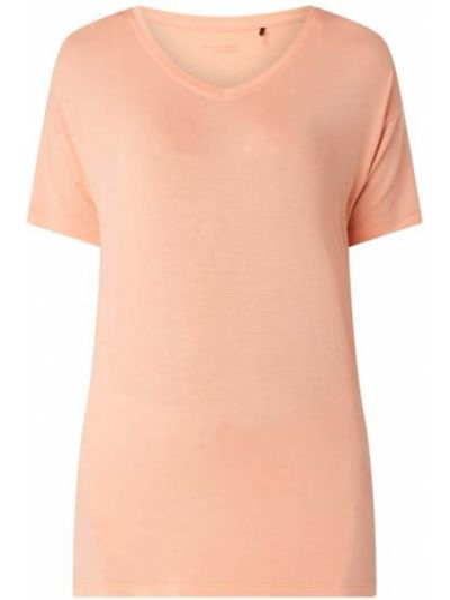 Pomarańczowy piżama krótkie rękawy z dekoltem okrągły Schiesser