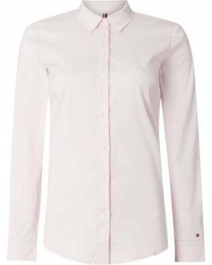 Różowa bluzka z haftem bawełniana Tommy Hilfiger
