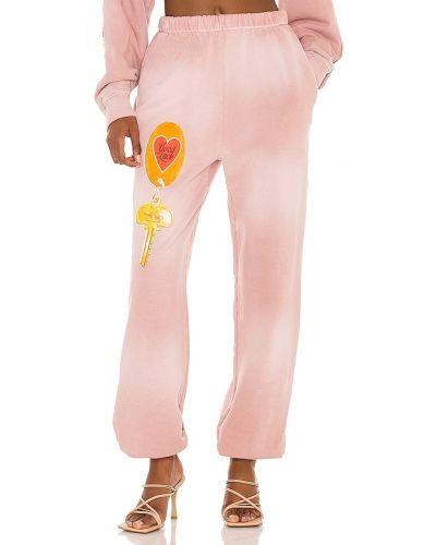 Różowe spodnie dresowe bawełniane Boys Lie