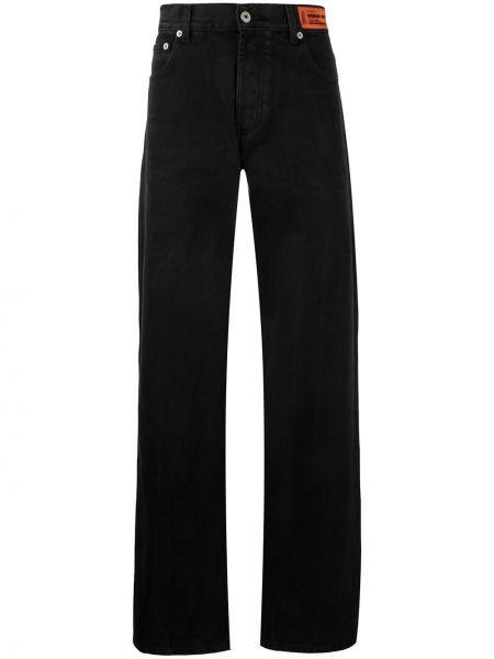 Черные прямые джинсы с карманами Heron Preston