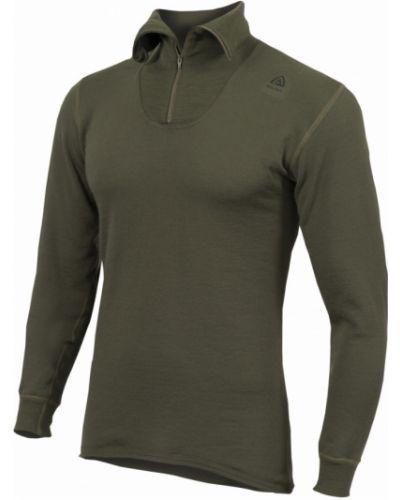 Приталенная зеленая футболка с длинными рукавами Aclima