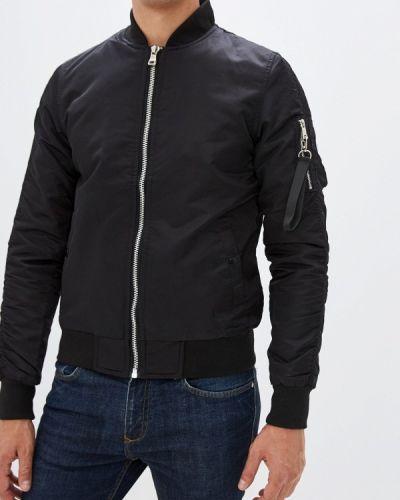 Утепленная куртка черная осенняя Chromosome