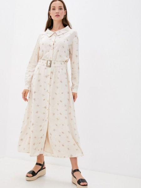 Бежевое платье Laroom