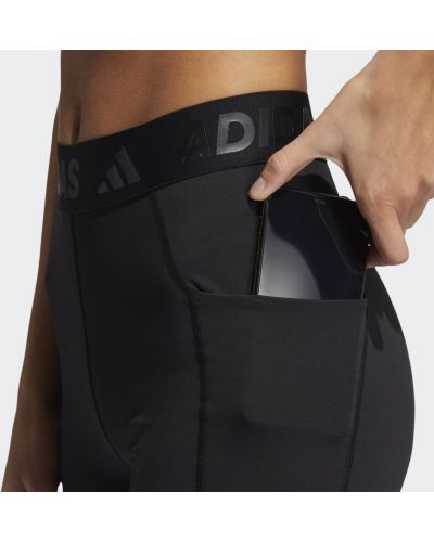 Черные леггинсы с высокой посадкой для фитнеса Adidas