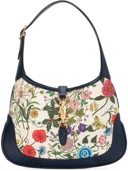 Skórzana torebka talia z nadrukiem Gucci