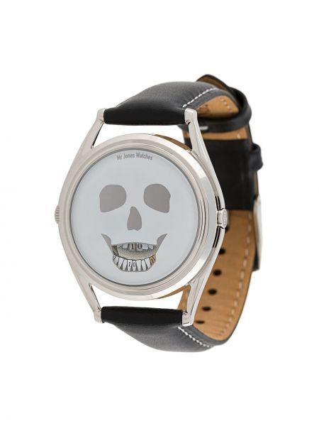 Szwajcarski zegarek szary czarny Mr Jones
