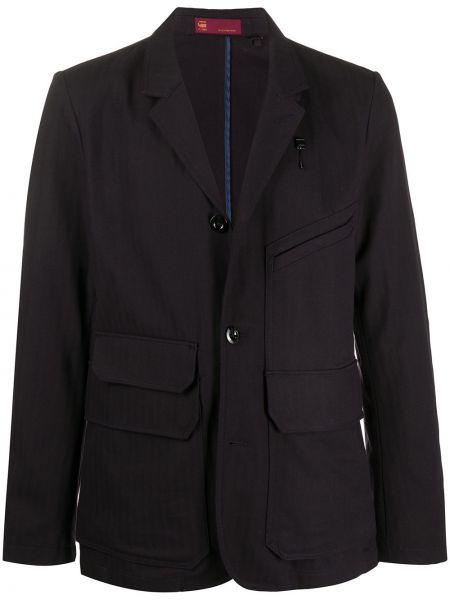 Прямой классический пиджак на пуговицах с карманами из вискозы G-star Raw