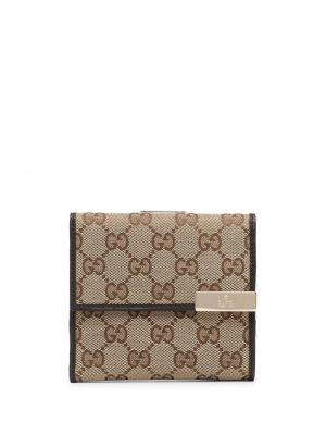Portfel skórzany - brązowy Gucci