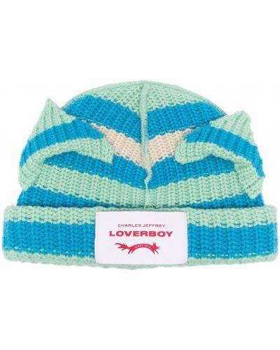 Niebieska czapka prążkowana Charles Jeffrey Loverboy