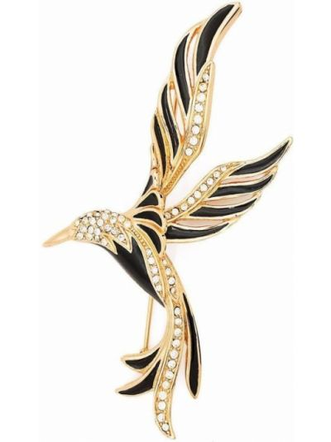 Czarna złota broszka Christian Dior