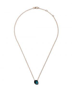 Niebieski złoty naszyjnik elegancki Pomellato