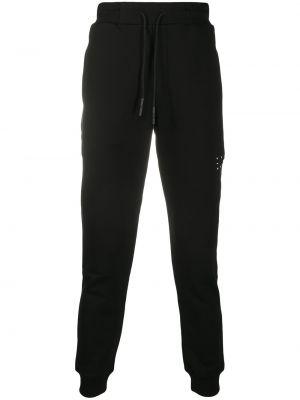 Bawełna bawełna czarny spodnie sportowe z łatami Mcq Alexander Mcqueen
