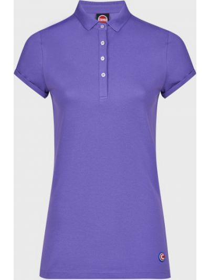 Фиолетовое хлопковое поло на пуговицах Colmar Originals
