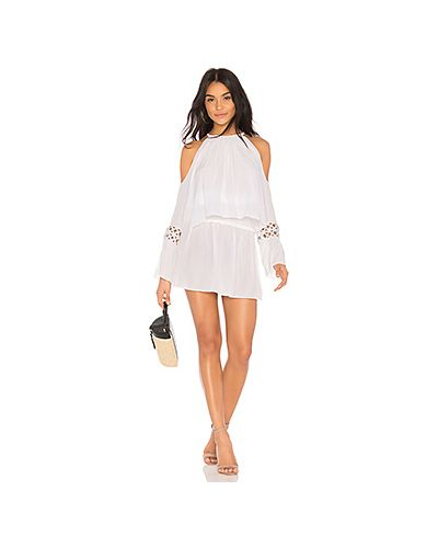 Платье с поясом со складками с вырезом Ramy Brook