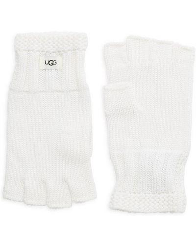 Czarne rękawiczki wełniane Ugg