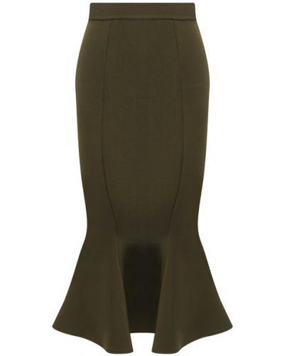 Зеленая юбка из вискозы Alexandre Vauthier