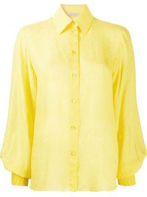 Желтая классическая рубашка с воротником на пуговицах Nina Ricci