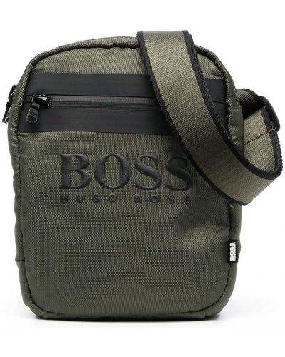 С ремешком зеленая косметичка Boss Kidswear