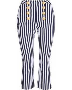 Укороченные брюки с завышенной талией расклешенные Balmain