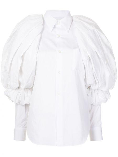 Хлопковая рубашка - белая Comme Des Garçons