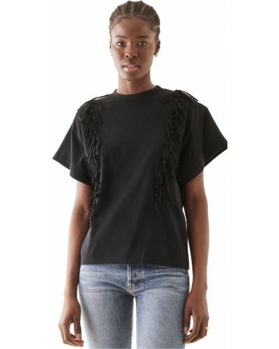 Хлопковая черная футболка с короткими рукавами Toga Pulla