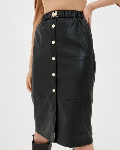 Черная кожаная юбка Love Republic