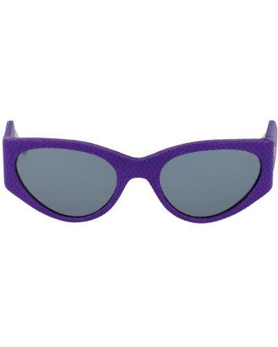 Fioletowe okulary z printem Salvatore Ferragamo