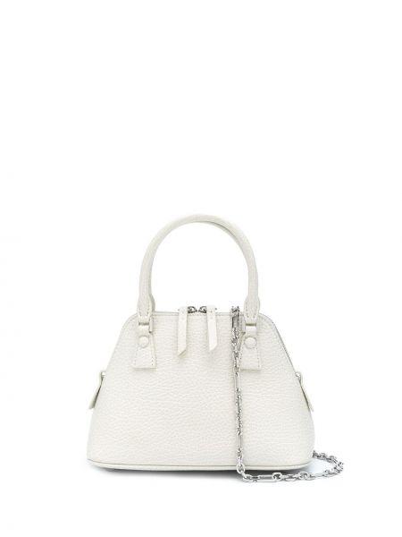 Biały torebka na łańcuszku srebrny Maison Margiela