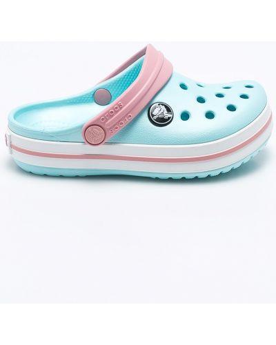 Босоножки белые синие Crocs