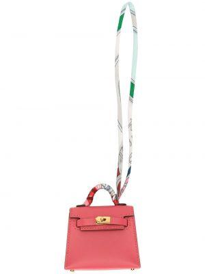 Розовая шелковая подвеска с подвесками Hermes