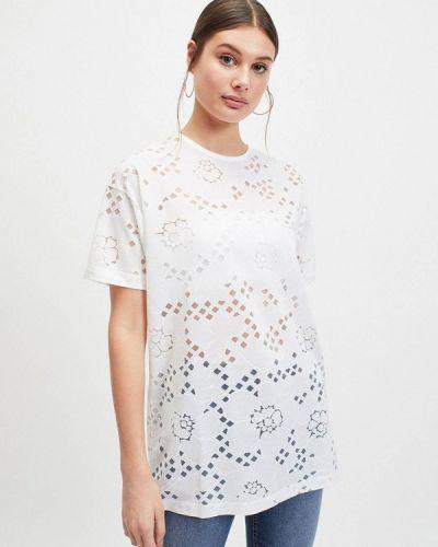 Блузка с коротким рукавом белая Miss Selfridge