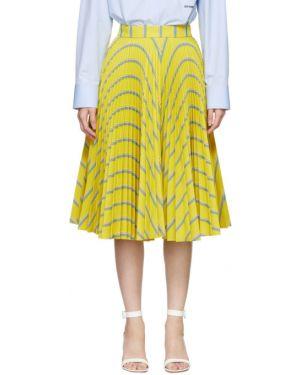 Плиссированная юбка пачка синяя Calvin Klein 205w39nyc