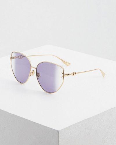 Фиолетовые солнцезащитные очки Christian Dior