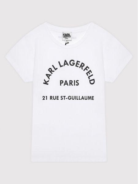 T-shirt - biała Karl Lagerfeld
