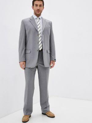 Серый костюм классический Absolutex